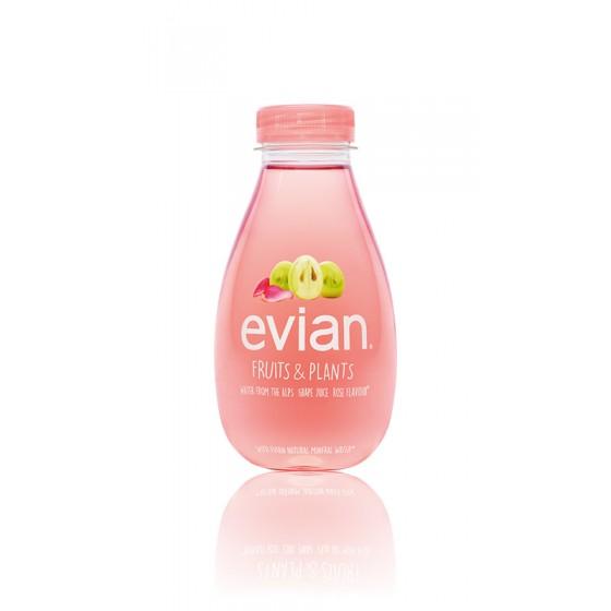 Evian Fruits & Plantes Raisin et Rose